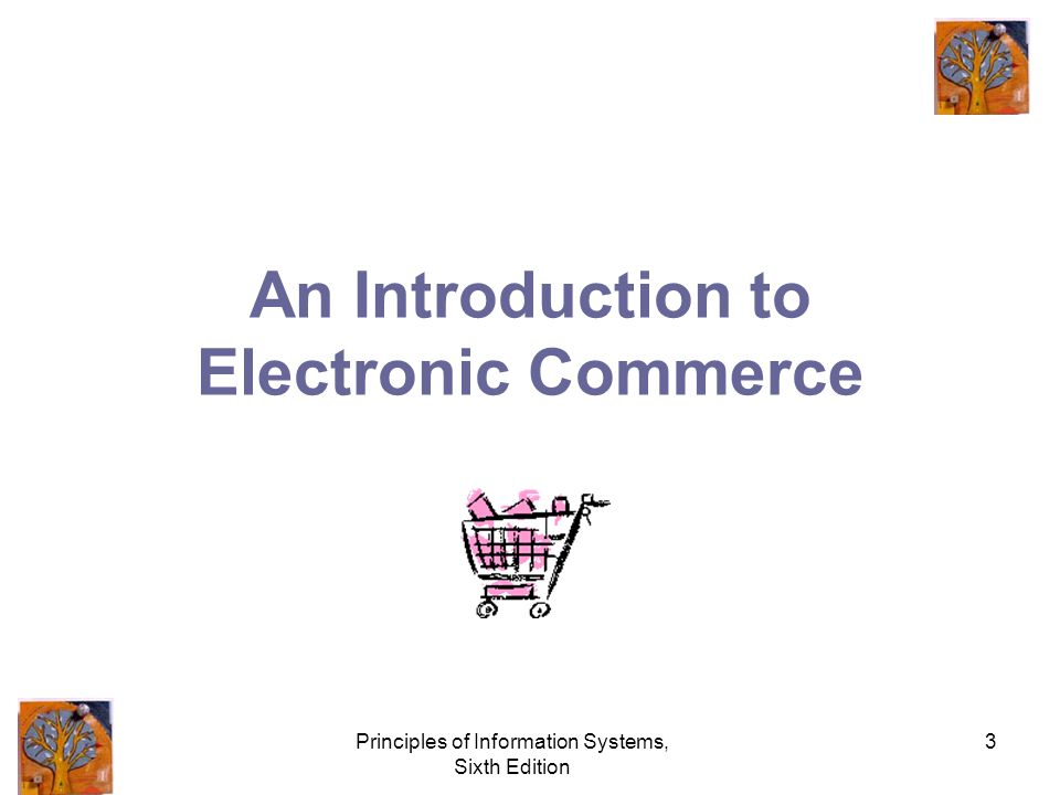 Principles of Information Systems, Sixth Edition 3 An Introduction to Electronic Commerce