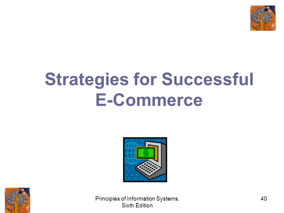 Principles of Information Systems, Sixth Edition 40 Strategies for Successful E-Commerce