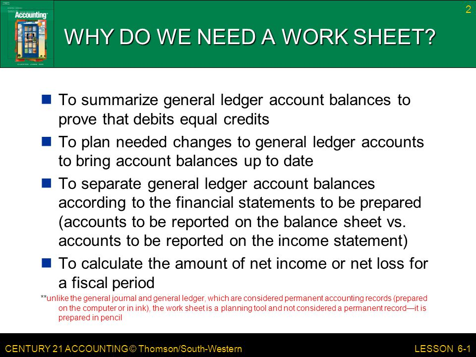 CENTURY 21 ACCOUNTING © Thomson/South-Western LESSON 6-1 ...