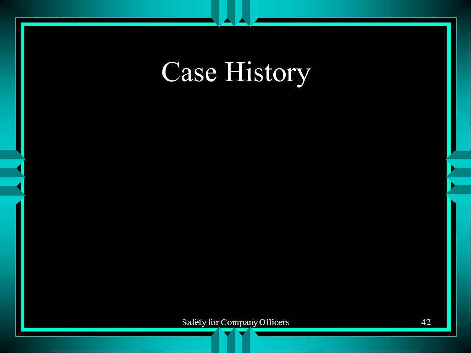 Safety for Company Officers42 Case History