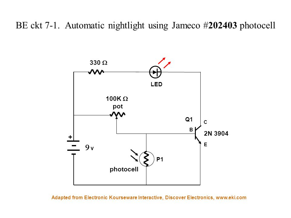 BE Lesson 7: Make an automatic nightlight What is a Light Dependent ...