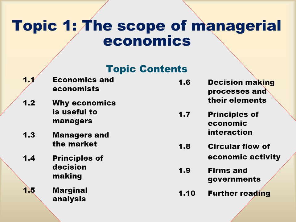 scope of managerial economics notes
