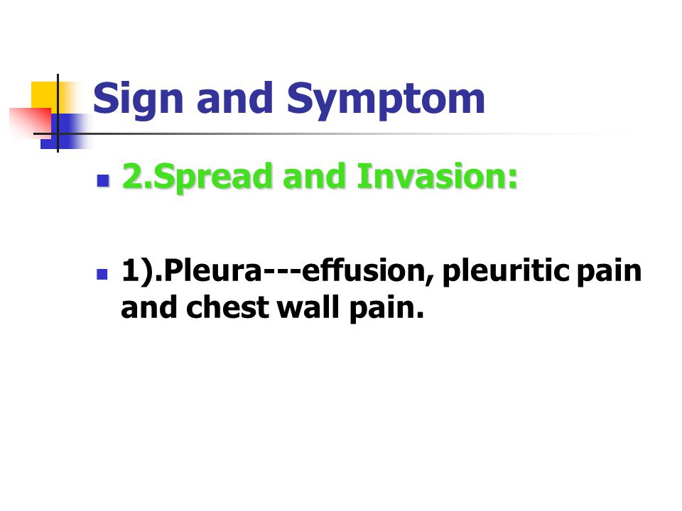 Sign and Symptom 1.Manifestation Of Respiratory System: 1.Manifestation Of Respiratory System: Cough Hemoptysis Sputum Breathlessness Stridor Chest pain