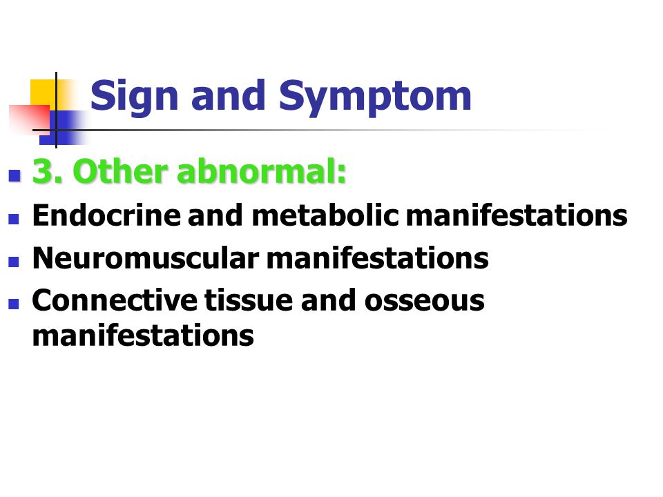 Sign and Symptom 2).Mediastinum--- Left recurrent laryngeal nerve palsy Superior vena caval obstruction Dysphagia Phrenic nerve paralysis Pancoast ' tumors: Horner ' s syndrome