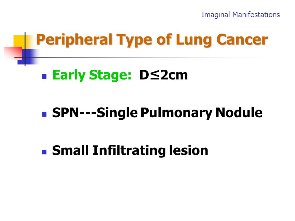 Central Type of lung Cancer Central Type of lung Cancer Late sign (typical ) Hilar Mass+ Atelectasis