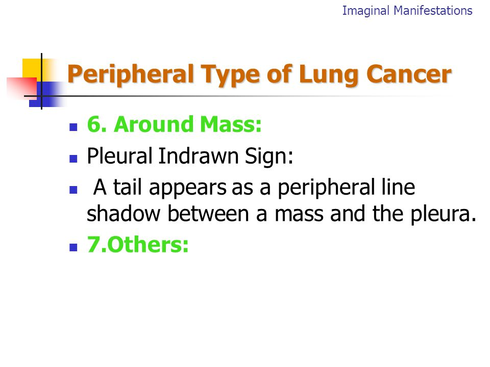 Peripheral Type of Lung Cancer 5.Densety: 1).