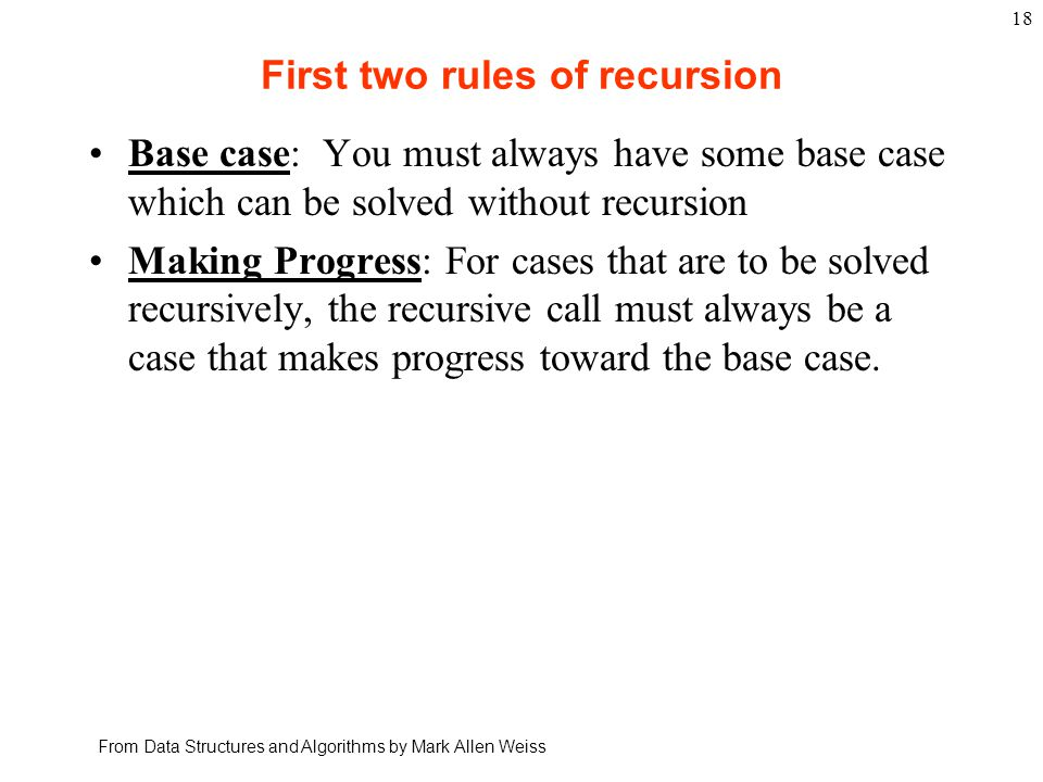 Recursion, Variation 3 What will the following program do.