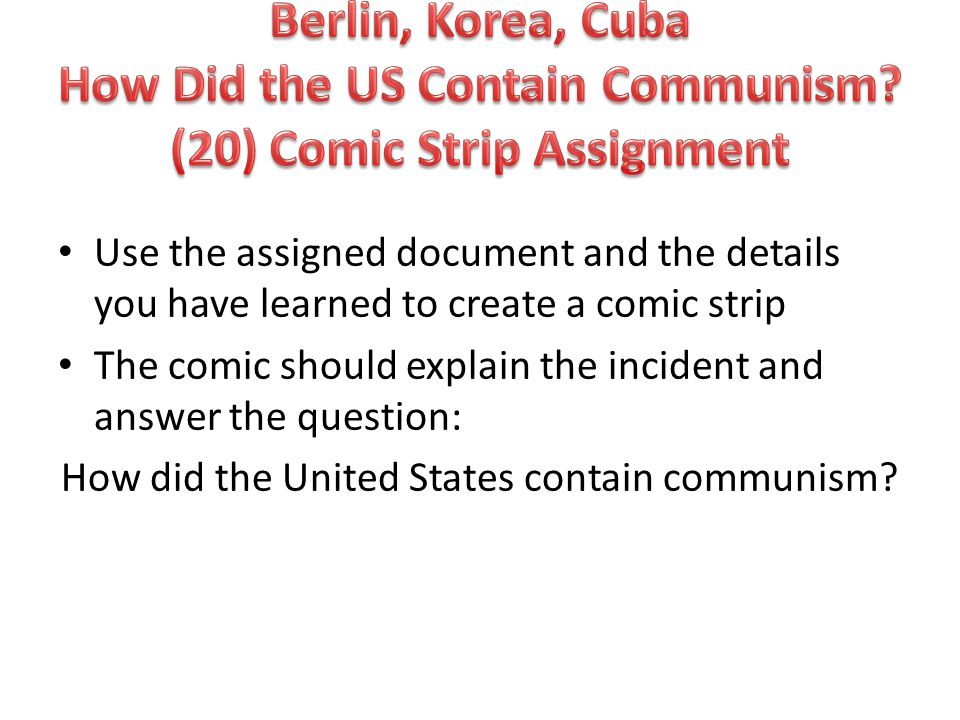 how did the us contain communism