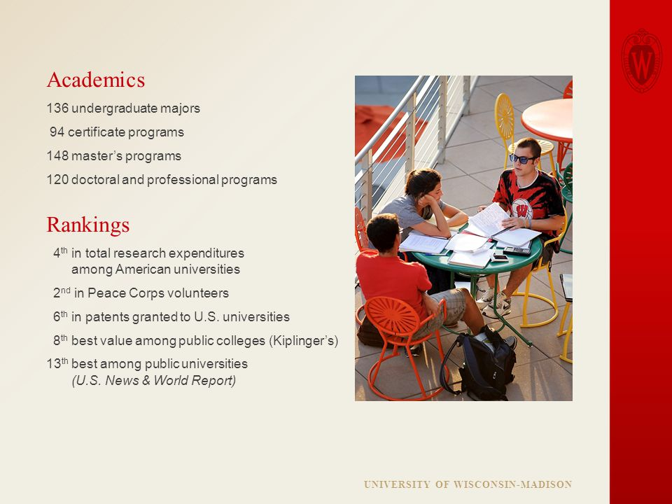 The University of Wisconsin-Madison is a public land-grant ...