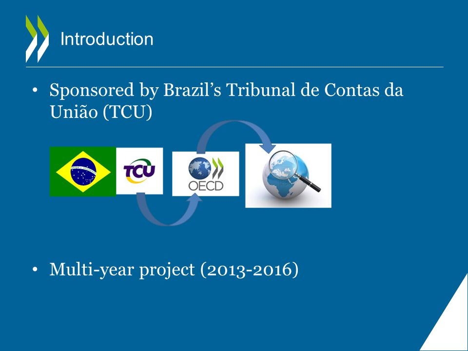 Introduction Sponsored by Brazil's Tribunal de Contas da União (TCU) Multi-year project ( )