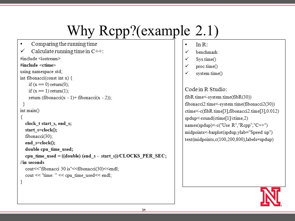 "C++ and Rcpp ""Rcpp"": How to use C++ with R Jiaqi Xu"