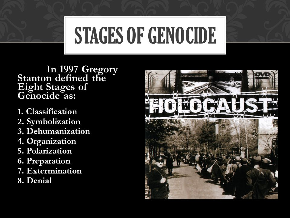 a study of the similarities and differences of genocides according to gregory stantons eight stage t The globe and mail offers the most authoritative news in canada, featuring national and international news  sleep study finds we need 7 to 8 hours, but many aren't clocking in enough.