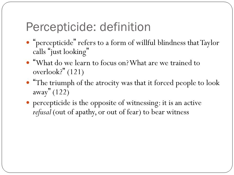 Gambaro S Information For Foreigners On Percepticide Ppt