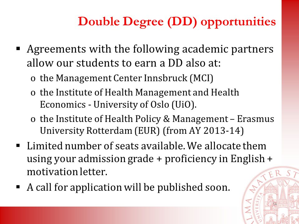 Curriculum health economics management hem kick off meeting ppt double degree dd opportunities agreements with the following academic partners allow our students spiritdancerdesigns Image collections