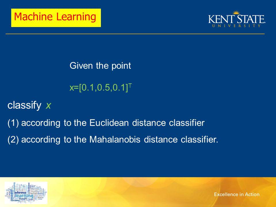 Mehdi Ghayoumi MSB rm 132 Ofc hr: Thur, a Machine Learning