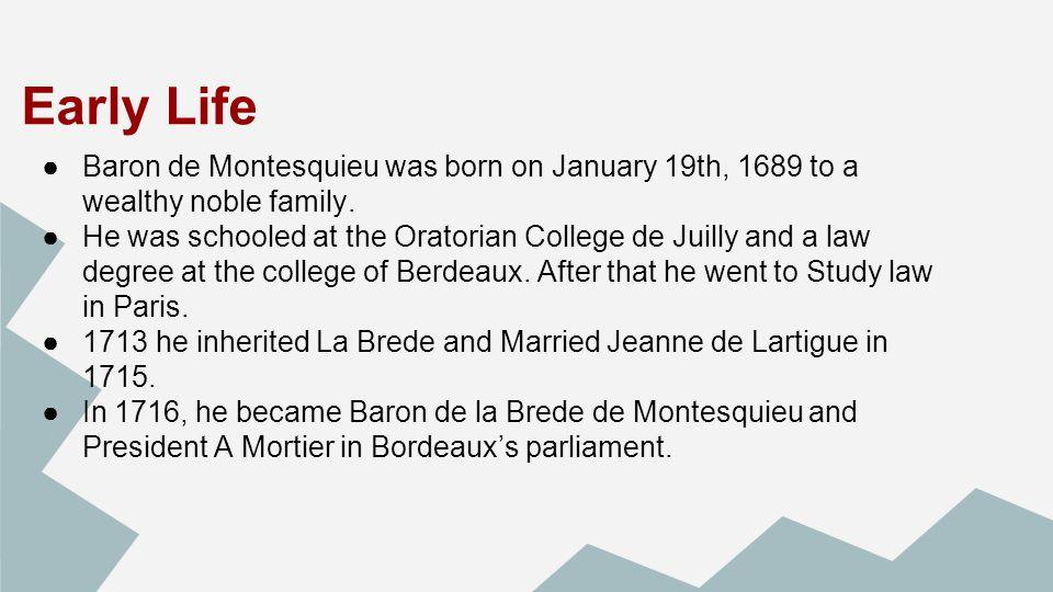 baron de montesquieu primarily wrote about the idea of
