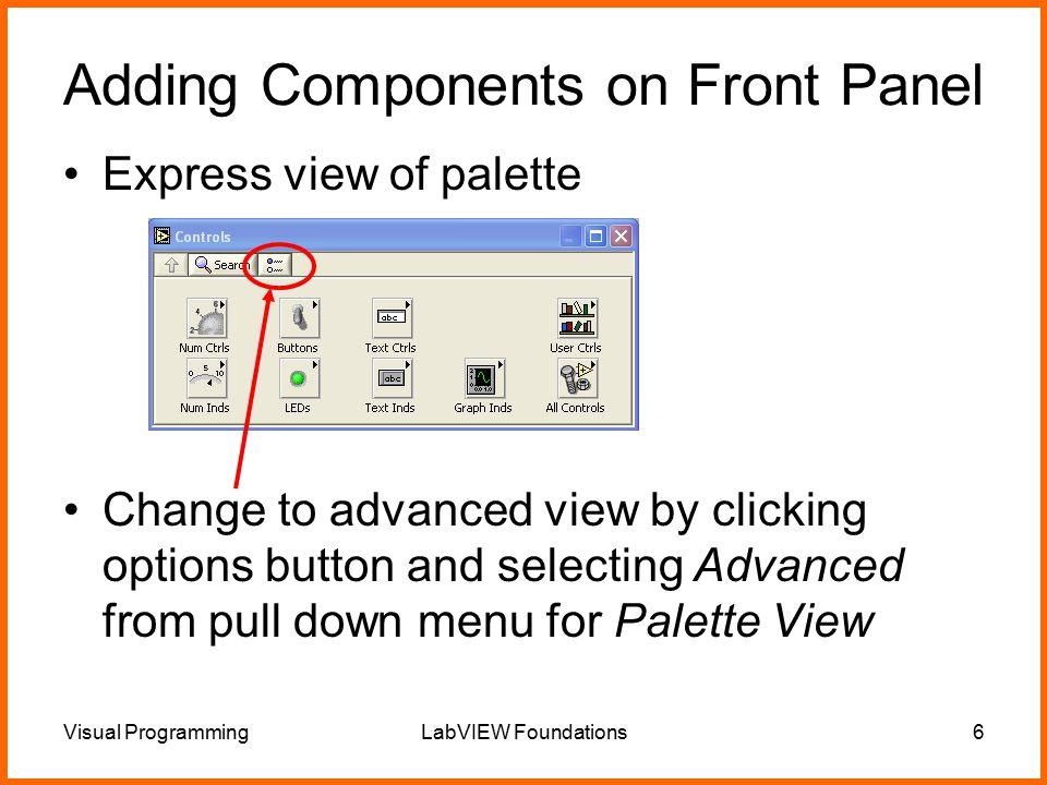CS320n –Visual Programming LabVIEW Foundations  Visual