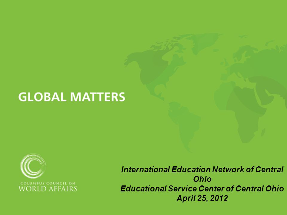 International Education Network Of Central Ohio Educational Service