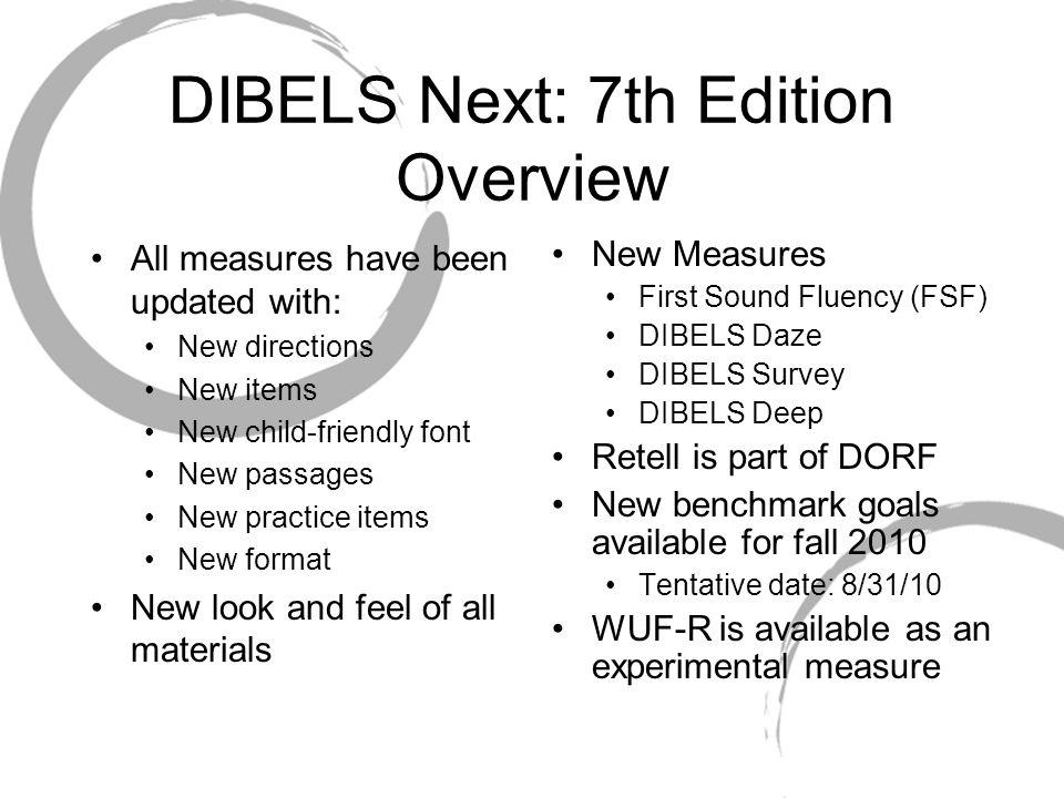 DIBELS Next Introduction Webinar Oregon Reading First Center