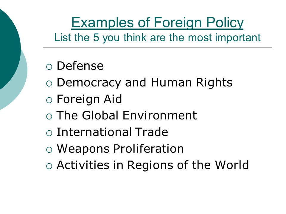 foreign and domestic policy defined and goals of. - ppt download