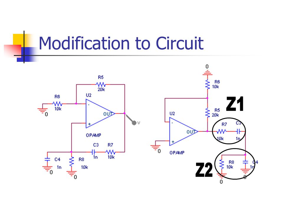Modification to Circuit