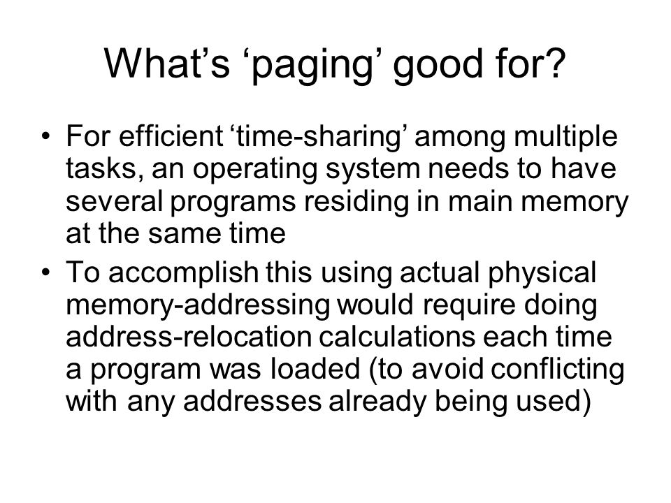 IA32 Paging Scheme Introduction to the Intel x86's support