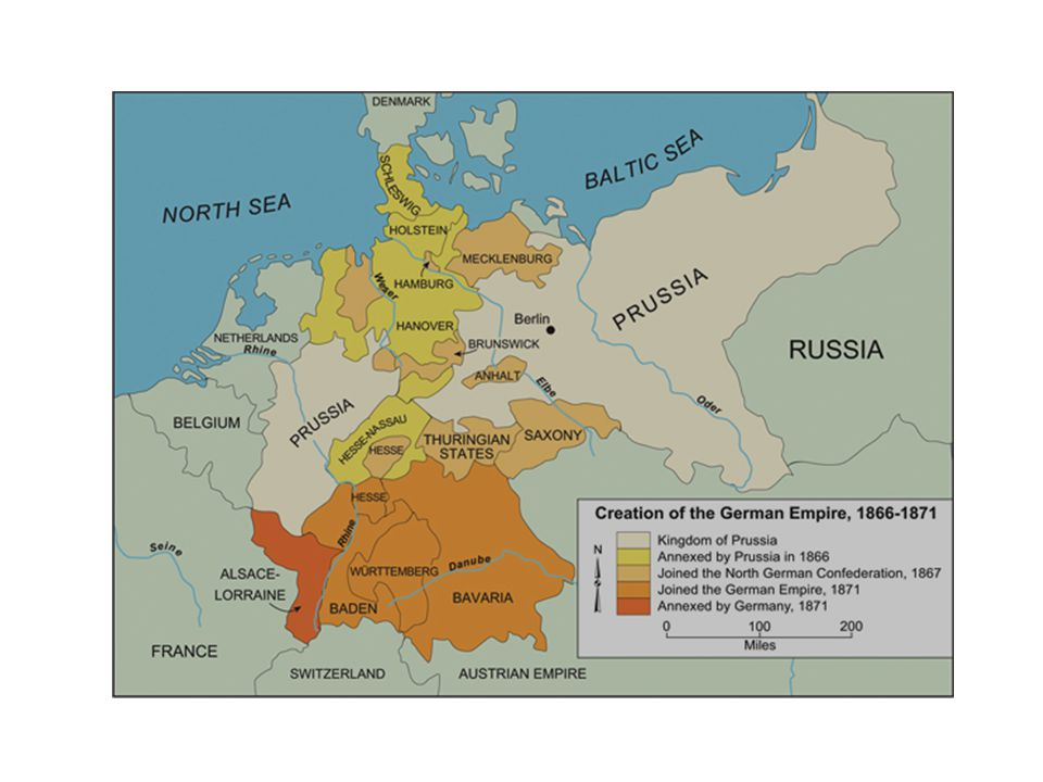 Map Of Germany 1871.German Unification Ppt Video Online Download