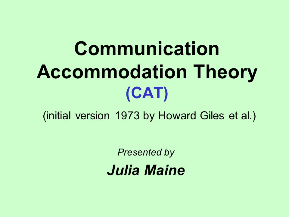 what is the accommodation theory