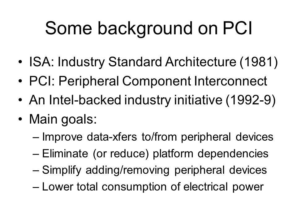 The Linux PCI Interface An introduction to the PCI