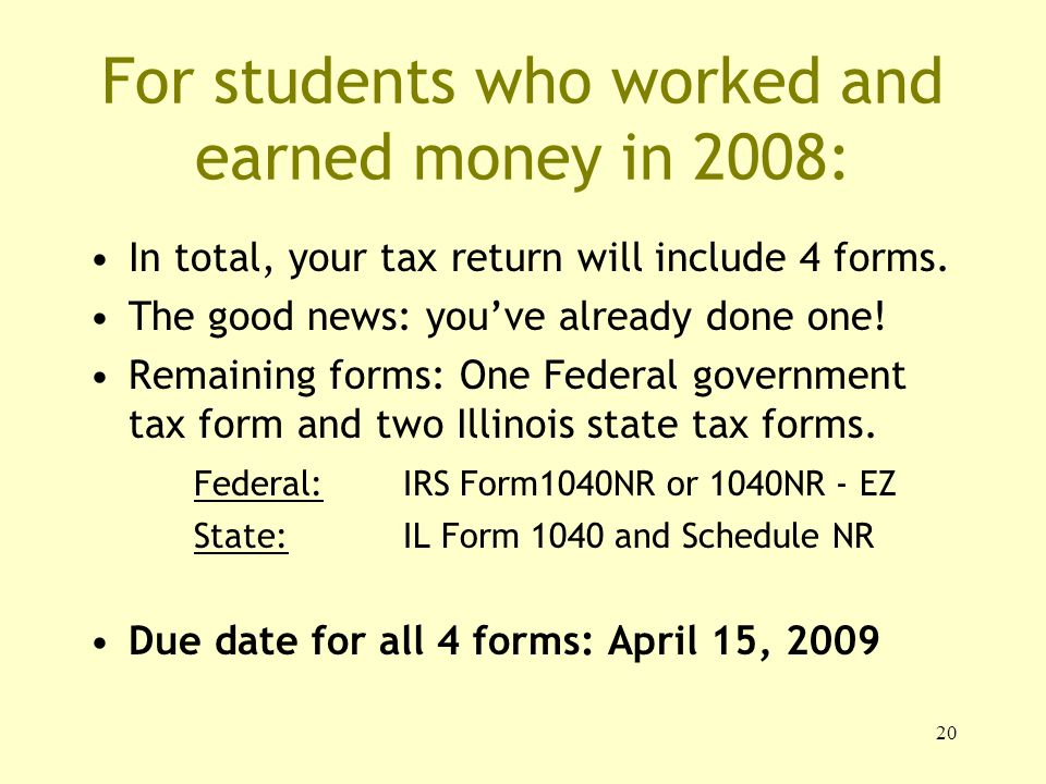 1 Tax Responsibilities For International Students Office Of