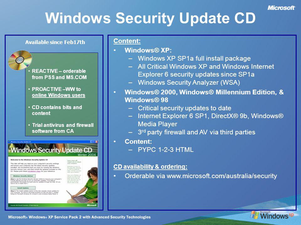 Windows XP Service Pack 2 Technical Update  Windows XP