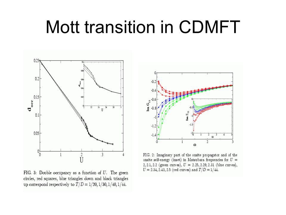Mott transition in CDMFT