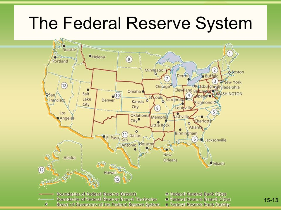 15-13 The Federal Reserve System