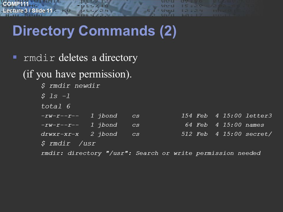 UNIX file systems Learning Objectives: 1  To understand the