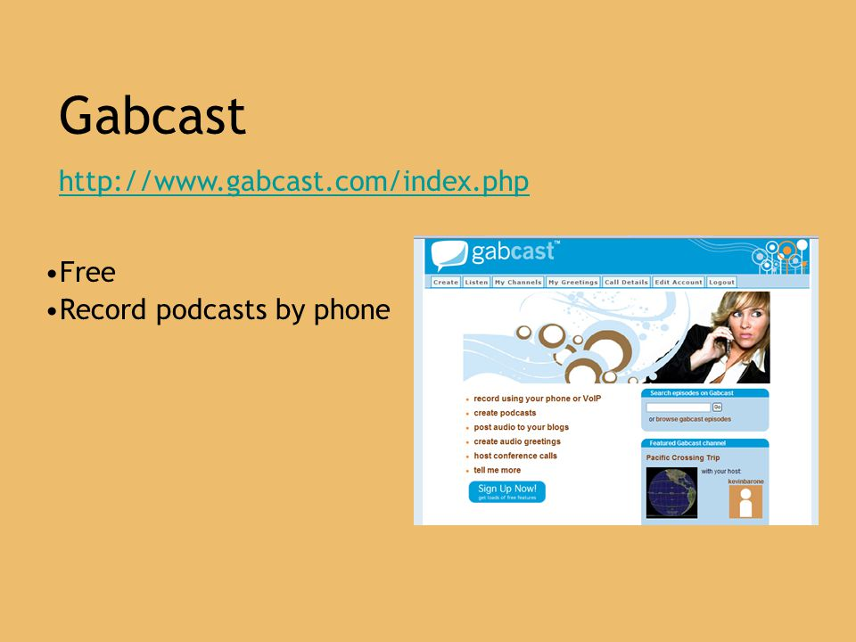 Gabcast   Free Record podcasts by phone