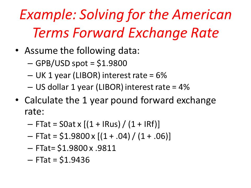 The Forward Market and the Forward Exchange Rate Understanding the