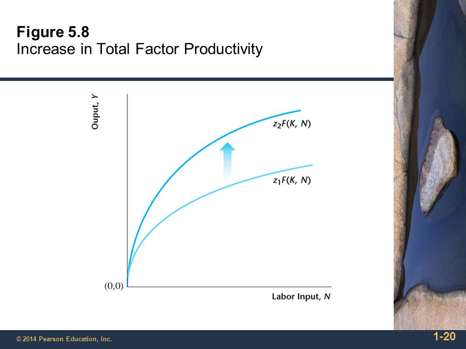 1-20 © 2014 Pearson Education, Inc. Figure 5.8 Increase in Total Factor Productivity