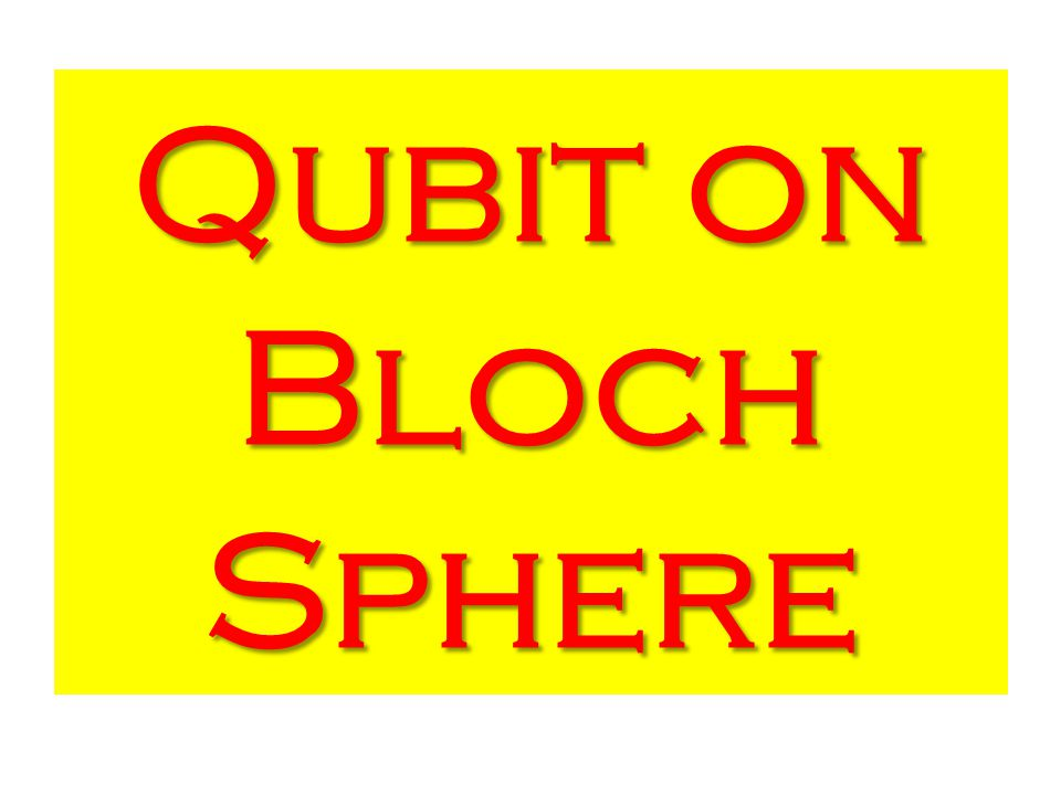 Qubit on Bloch Sphere