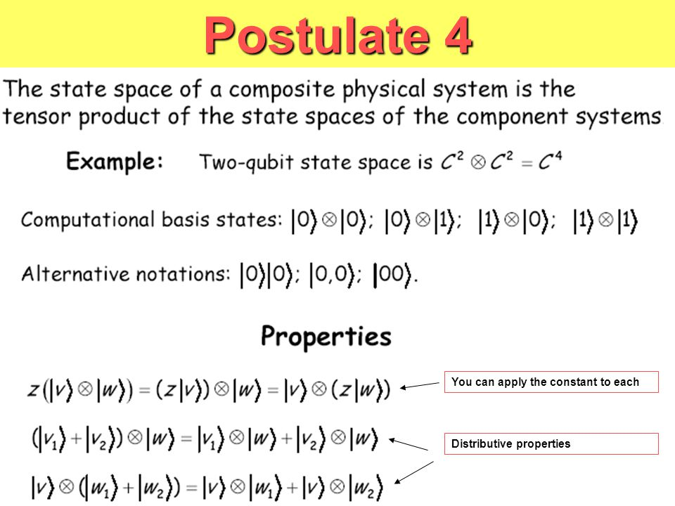 You can apply the constant to each Distributive properties Postulate 4