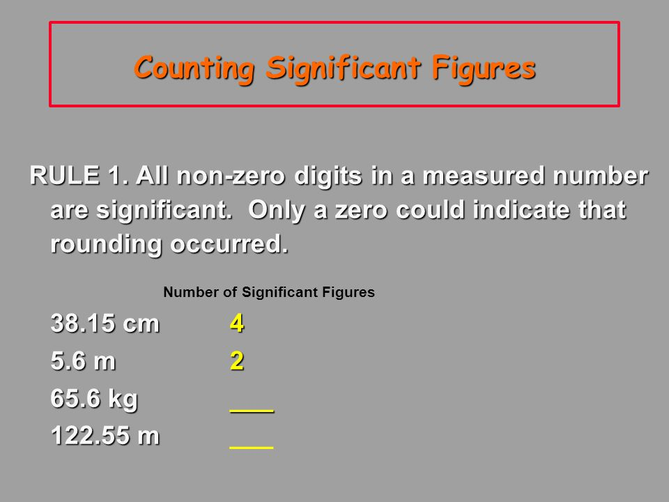 Significant Figures The numbers reported in a measurement are limited by the measuring tool The numbers reported in a measurement are limited by the measuring tool Significant figures in a measurement include the known digits plus one estimated digit Significant figures in a measurement include the known digits plus one estimated digit
