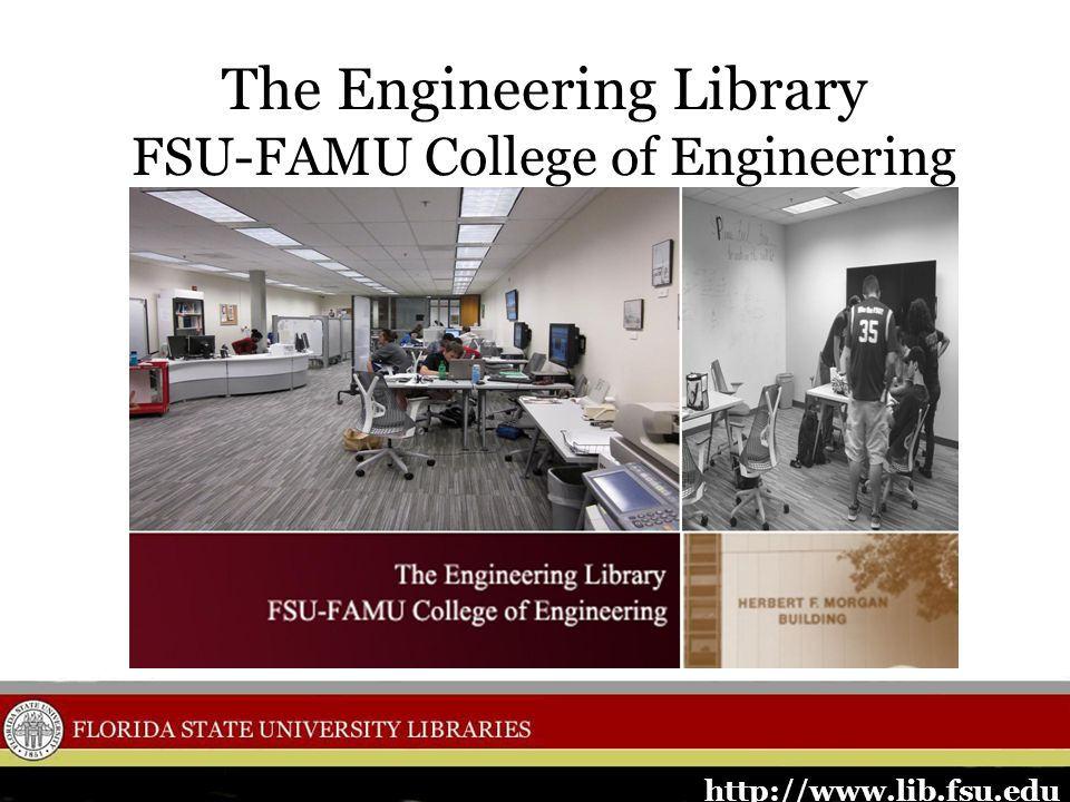 Engineering Library flyer introducing the library