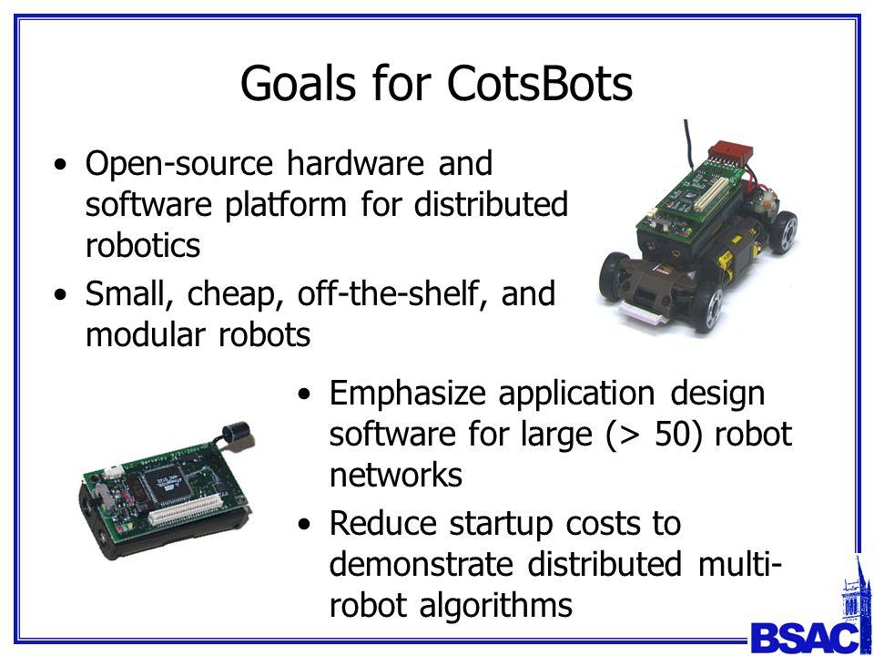 CotsBots: An Off-the-Shelf Platform for Distributed Robotics