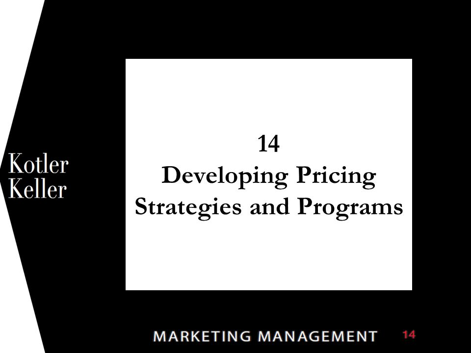 14 Developing Pricing Strategies and Programs 1  Synonyms