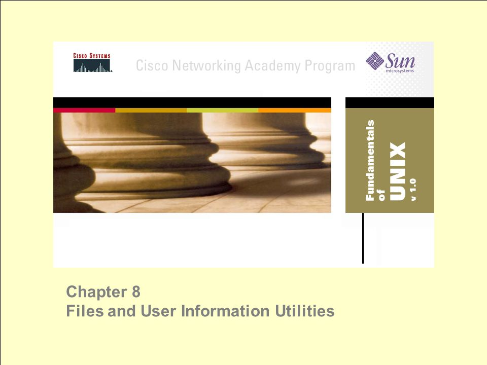 Chapter 8 Files and User Information Utilities