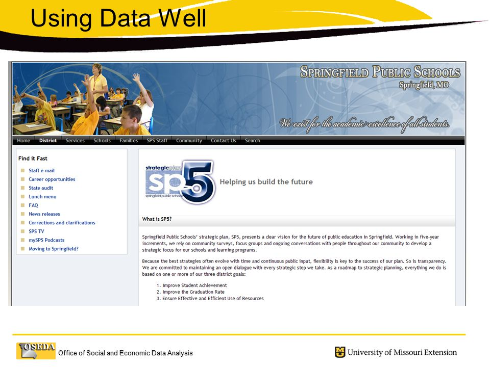 Office of Social and Economic Data Analysis Using Data Well