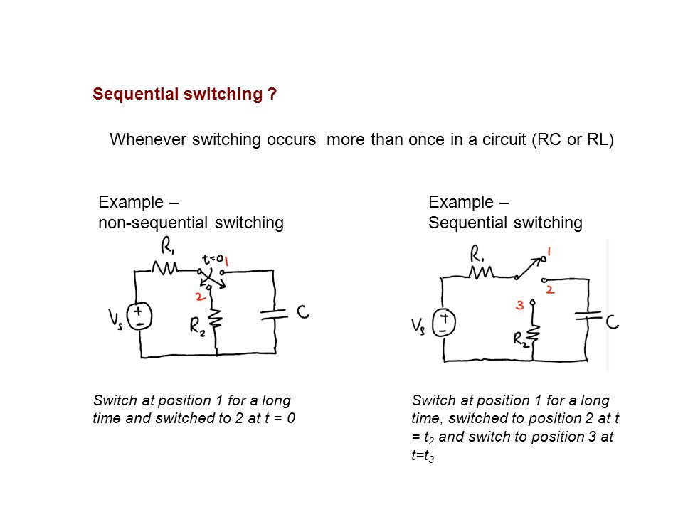 Sequential Switching RC circuit RL circuits. Sequential switching ...