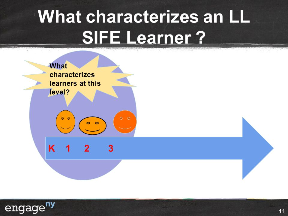 What characterizes an LL SIFE Learner 11 K What characterizes learners at this level