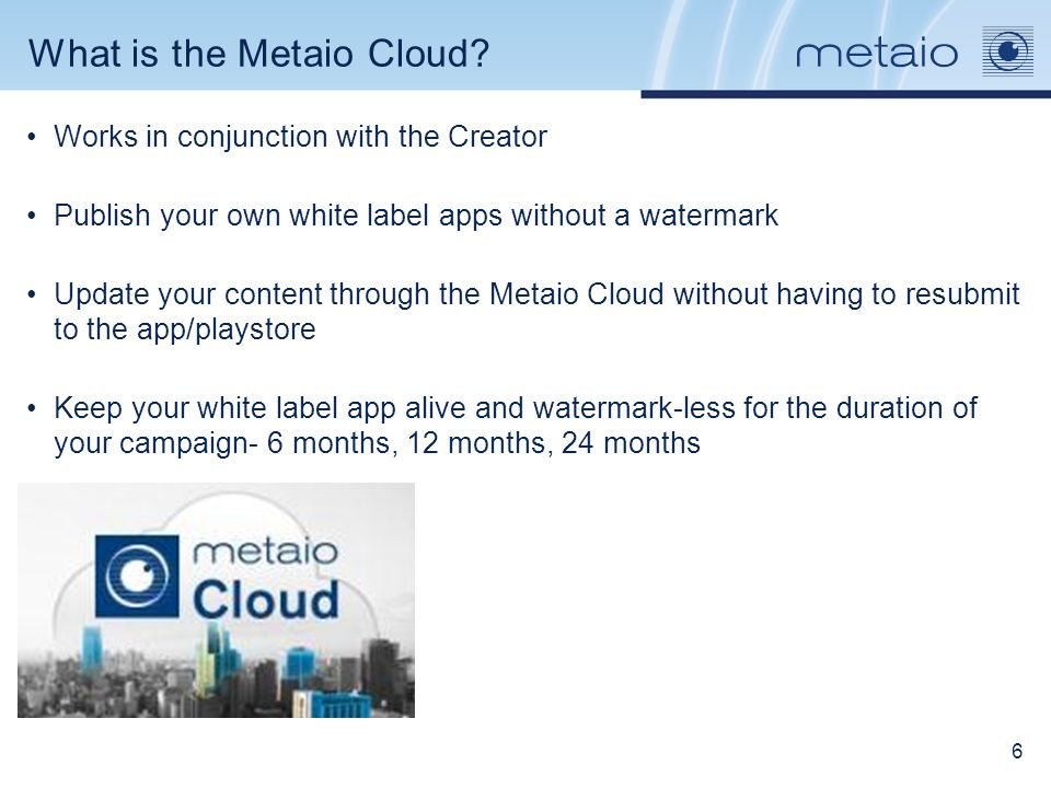 Creator: Creating an app shell and using the metaio cloud