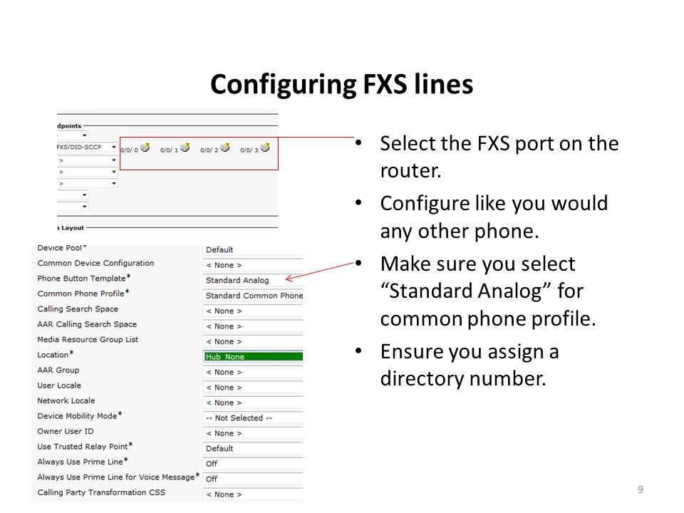 FXS Voice Gateways and Cisco Unified Call Manager