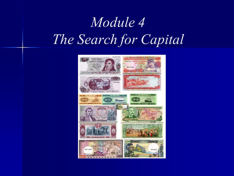 Module 4 The Search for Capital